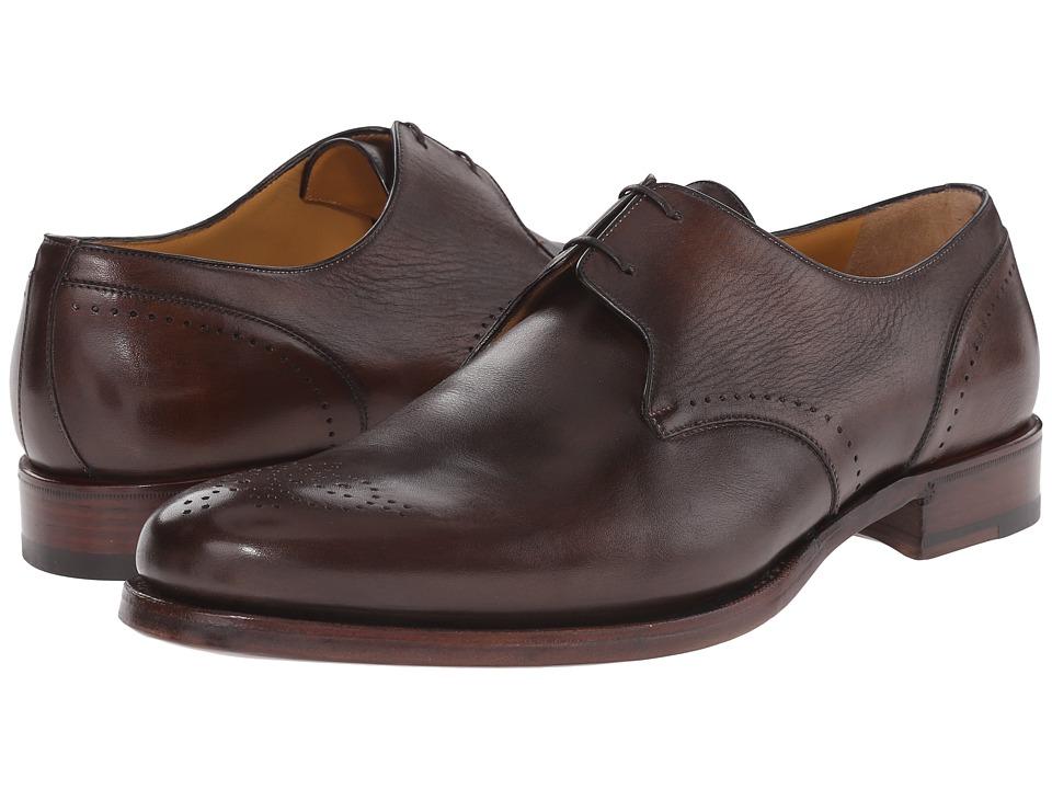 a. testoni Delave Calf Decorative Toe Oxford Moro Mens Lace up casual Shoes