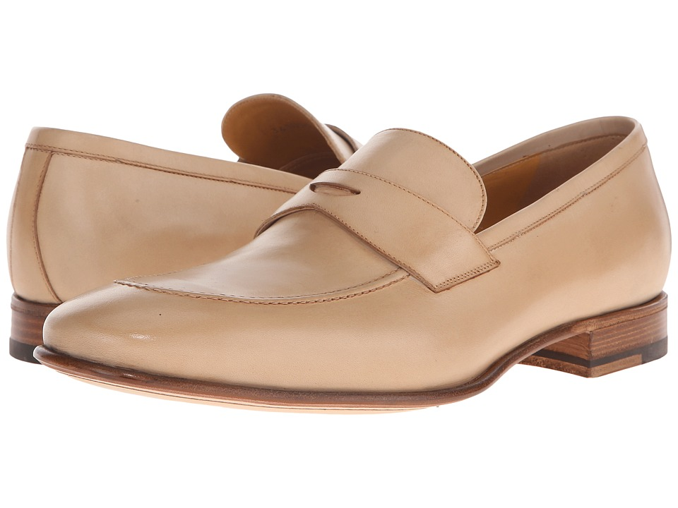 a. testoni Delave Calf Clean Penny Loafer Nude Mens Slip on Shoes
