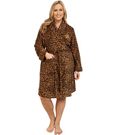 LAUREN by Ralph Lauren - Plus Size Folded So Soft Terry Short Robe