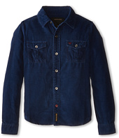 True Religion Kids - Indigo Washed Down Corduroy Shirt (Toddler/Little Kids)