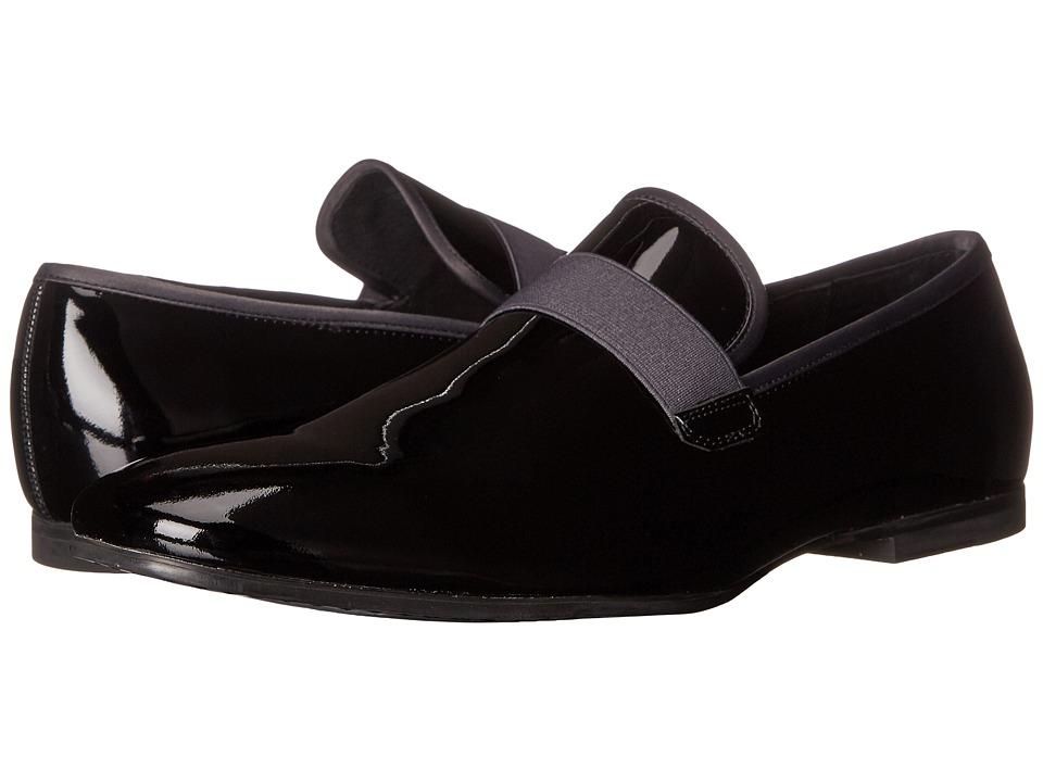 Calvin Klein - Nemo (Black/Dark Grey Patent Leather/Satin) Men