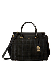LAUREN by Ralph Lauren - Whitby Windowpane Large Convertible Satchel