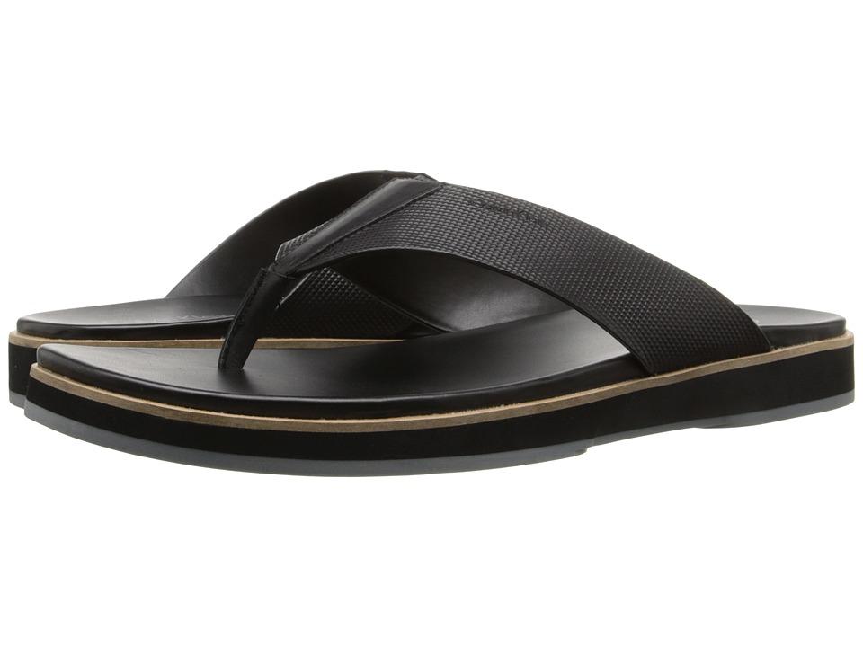 Calvin Klein - Deano (Black Stud Emboss Leather) Men