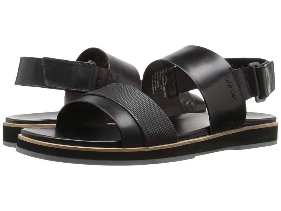 Calvin Klein - Dex (Black Stud Emboss Leather) Men