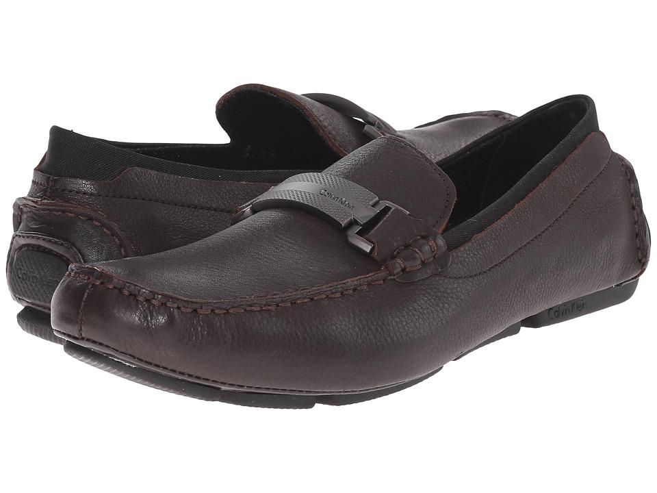 Calvin Klein - Maxim (Dark Brown Tumbled Leather) Men