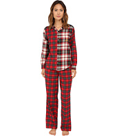 LAUREN by Ralph Lauren - Folded Mix Media Pajama