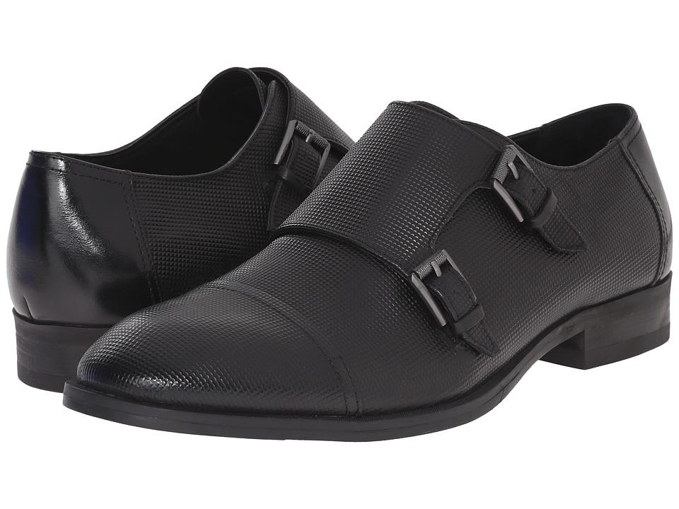 Calvin Klein - Sheen (Black Stud Emboss Leather) Men