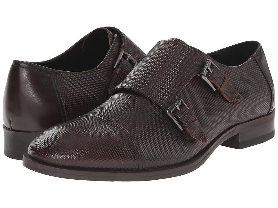Calvin Klein - Sheen (Brown Stud Emboss Leather) Men