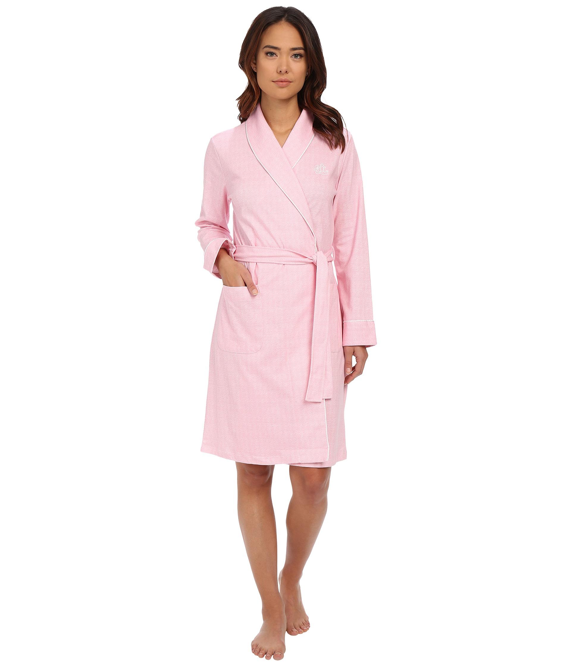 lauren ralph lauren interlock short shawl collar robe free shipping both ways. Black Bedroom Furniture Sets. Home Design Ideas