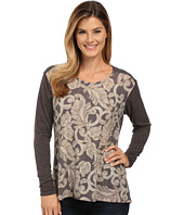 Bobeau - Mix Media Printed Top