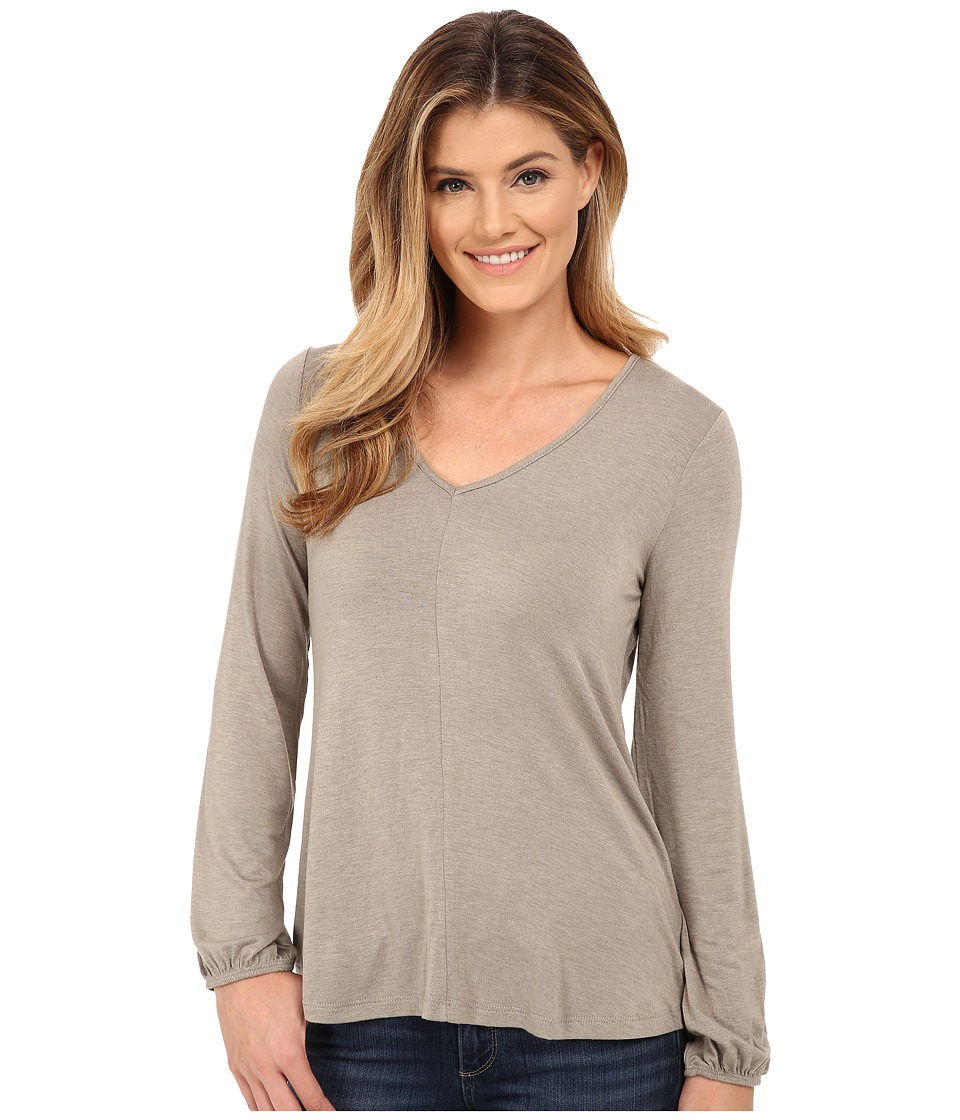 Bobeau Bell Sleeve Knit Top Frost Olive Womens Clothing