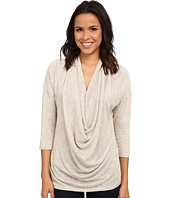 B Collection by Bobeau - Shimmer Knit Front Cowl