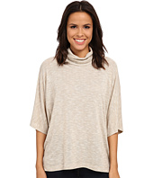 B Collection by Bobeau - Cowl Shimmer Poncho Knit