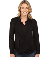 B Collection by Bobeau - Cross Front Blouse