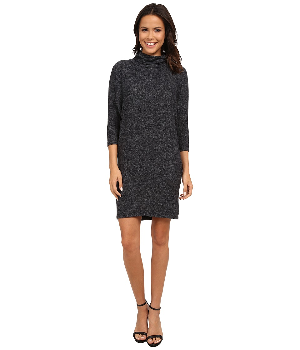 Image of B Collection by Bobeau - Cozy Dress (Charcoal) Women's Dress