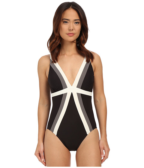Miraclesuit - Spectra Trilogy One-Piece (Black) Women's Swimsuits One Piece