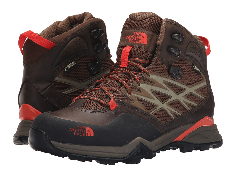 The North Face - Hedgehog Hike Mid GTX (Morel Brown/Radiant Orange) Women