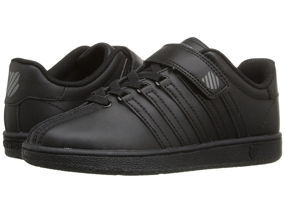 K-Swiss Kids Classic VN VLCtm (Little Kid) (Black/Black Leather) Kid's Shoes