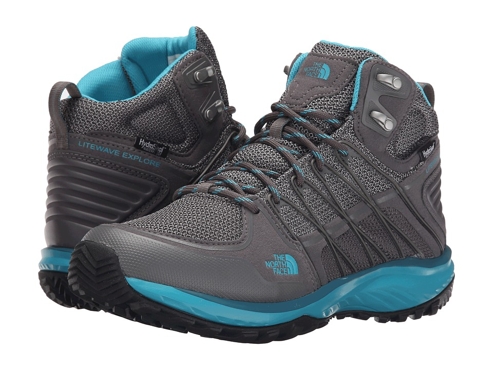 The North Face - Litewave Explore Mid WP (Steeple Grey/Bluebird) Women