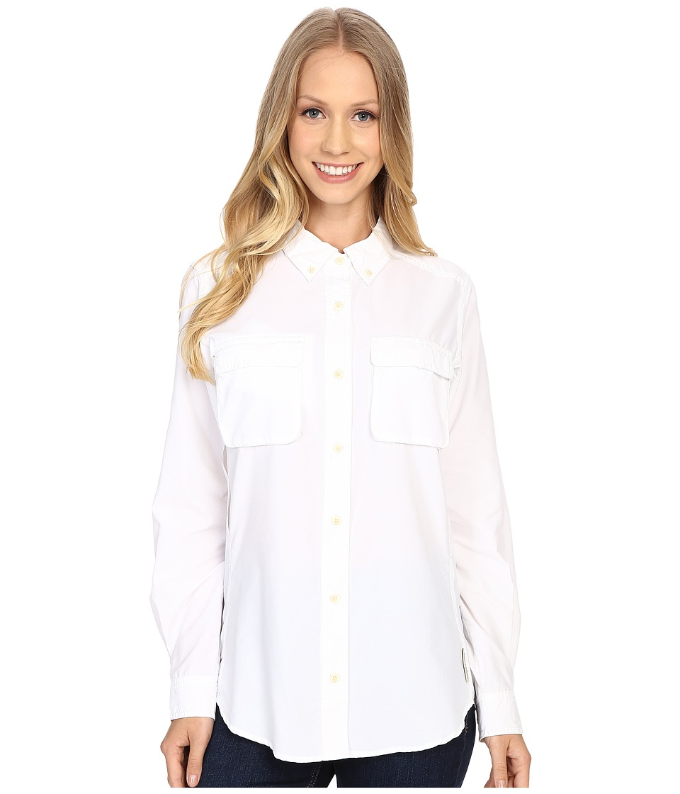 ExOfficio Air Strip Long Sleeve Shirt White Womens Long Sleeve Button Up