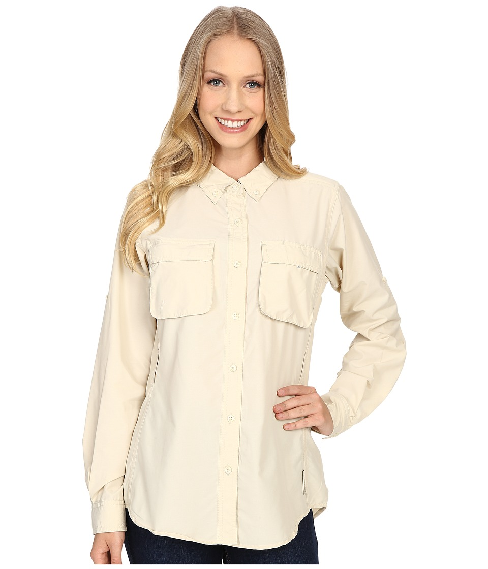 ExOfficio Air Strip Long Sleeve Shirt Bone Womens Long Sleeve Button Up