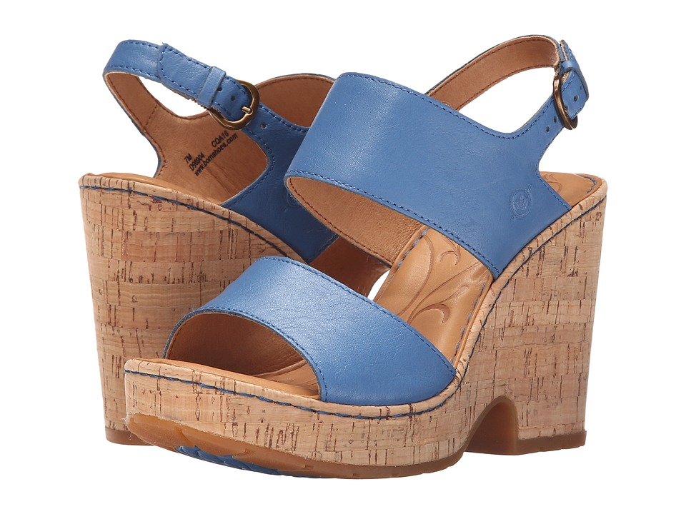 Born Annaleigh Blue Full Grain Leather High Heels