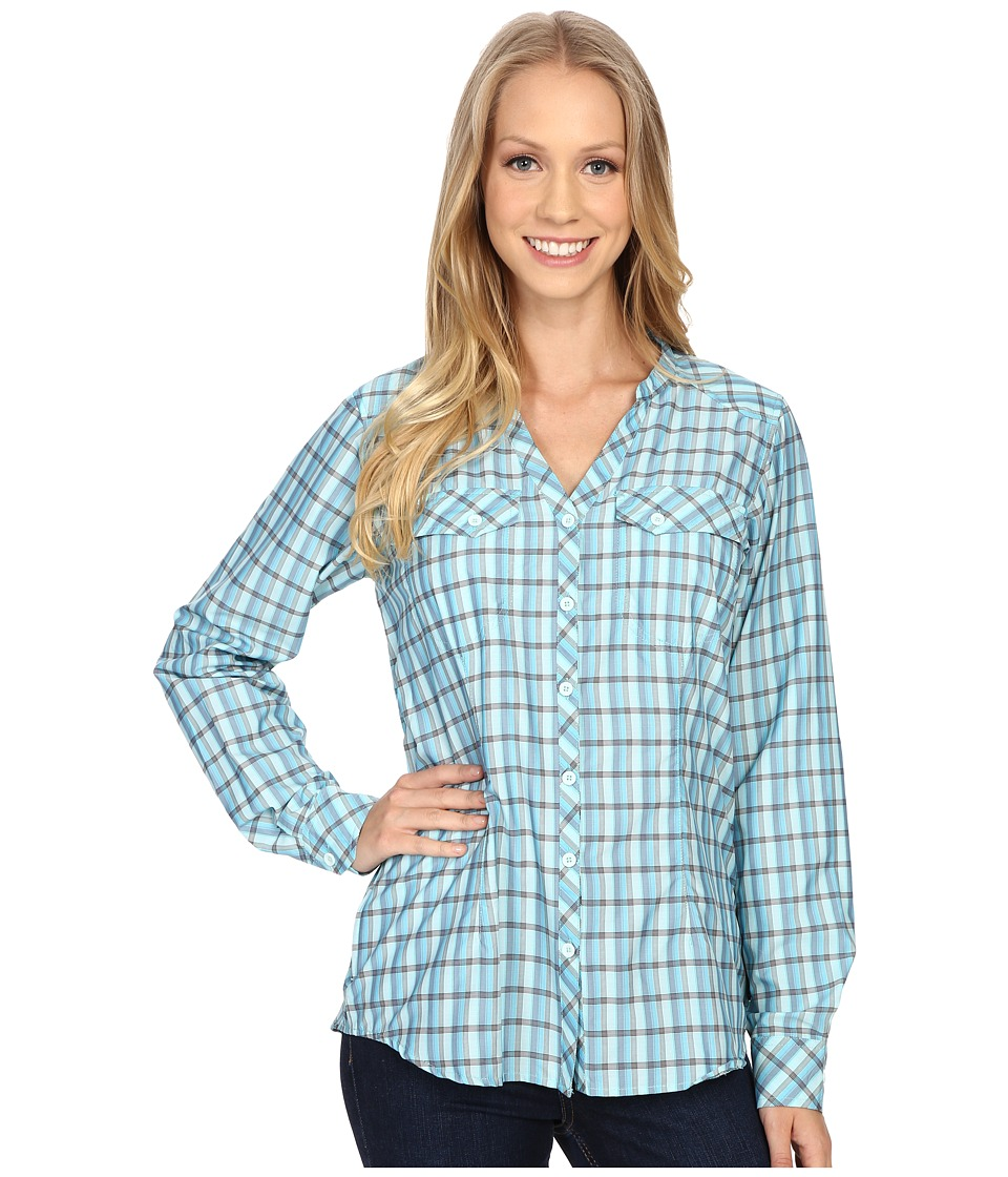 ExOfficio Airhart Long Sleeve Shirt Azul Womens Long Sleeve Button Up