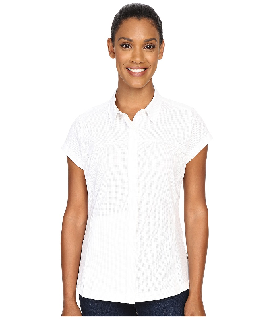 ExOfficio Air Space Short Sleeve Shirt White Womens Clothing