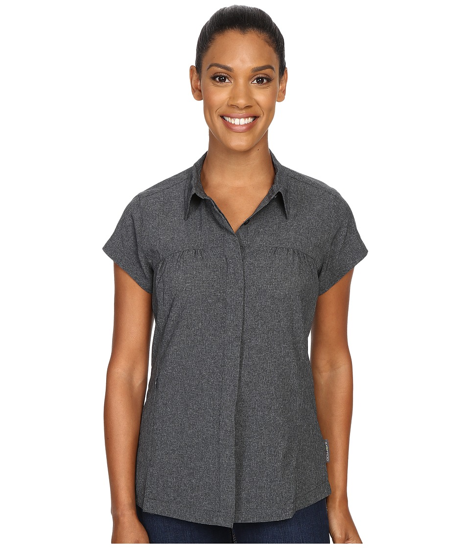 ExOfficio Air Space Short Sleeve Shirt Black Womens Clothing