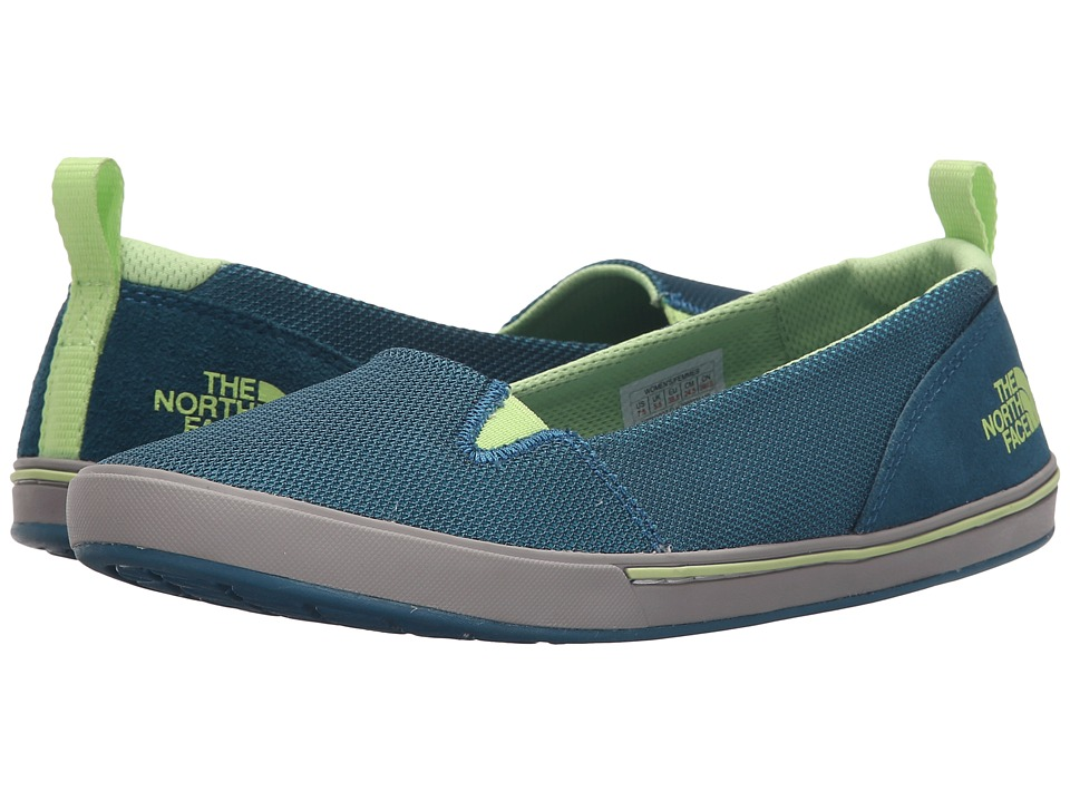 The North Face Base Camp Lite Skimmer II Bluebird/Budding Green Womens Slip on Shoes