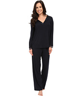 Midnight by Carole Hochman - A Touch of Silver Lace Inset Pajama Set