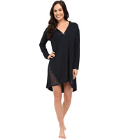 Midnight by Carole Hochman - A Touch of Silver Lace Inset Sleepshirt