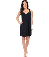 Midnight by Carole Hochman - A Touch of Silver Lace Inset Chemise