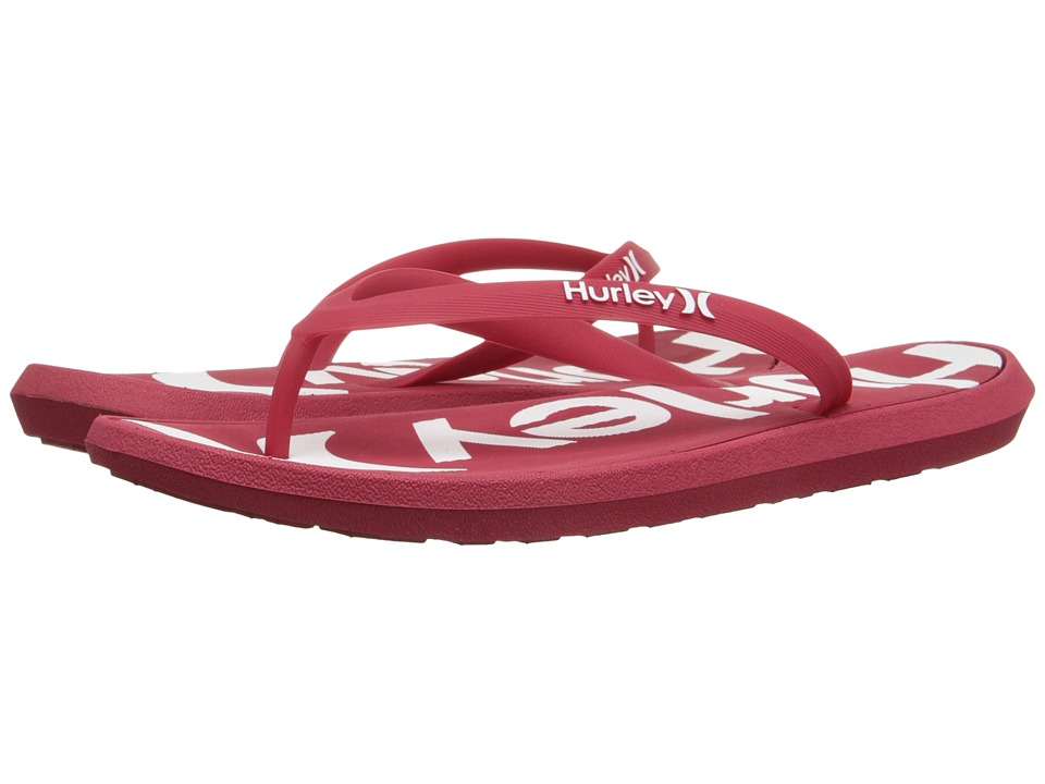Hurley One Only Printed Sandal (Gym Red) Men