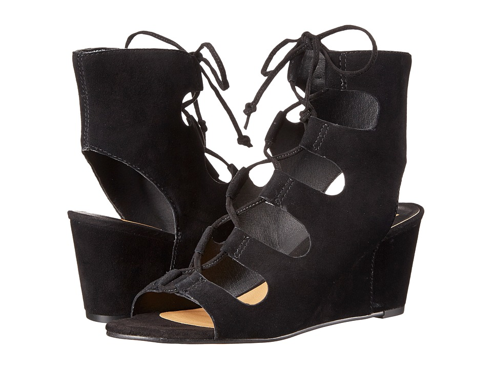 Dolce Vita Louise Black Suede Womens Shoes