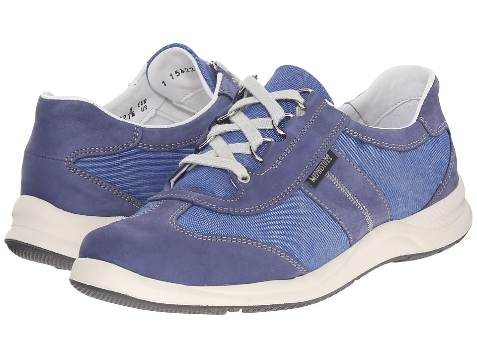 Mephisto Laser (Indigo Bucksoft/Bleu) Women's Shoes
