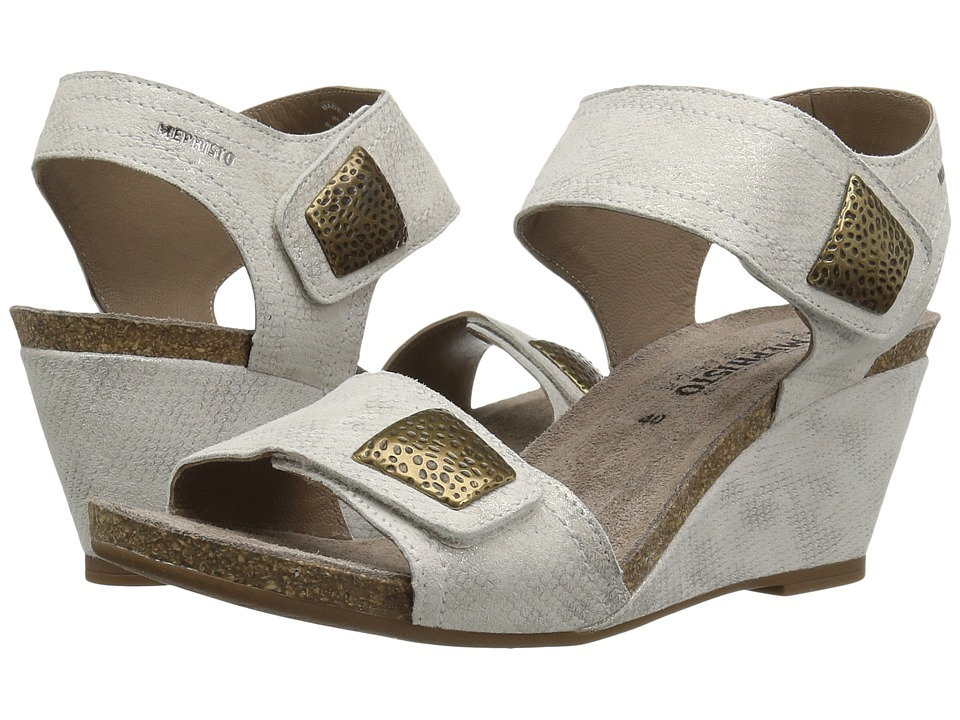 Mephisto - Jackie (Light Sand Savana) Womens Wedge Shoes