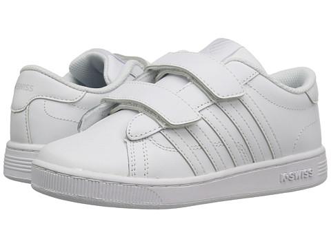 K-Swiss Kids Hoke Strap™ (Little Kid) - White/White Leather