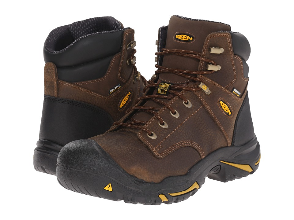 Keen Utility - MT Vernon Mid Soft Toe (Cascade Brown) Mens Work Boots