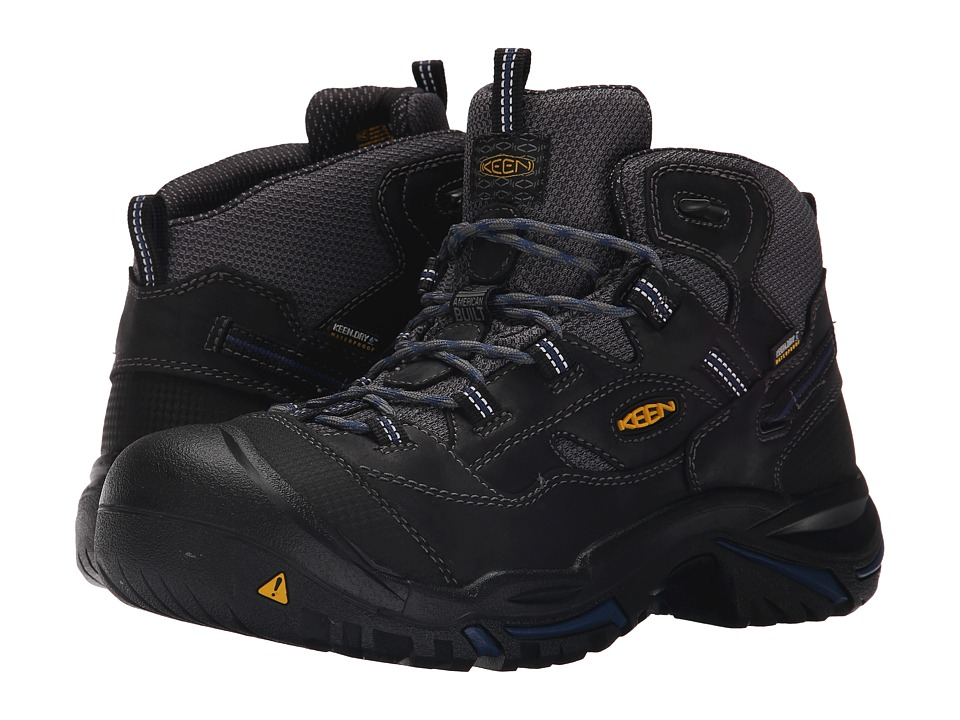 Keen Utility Braddock Mid Waterproof Soft Toe (Raven/Estate Blue) Men