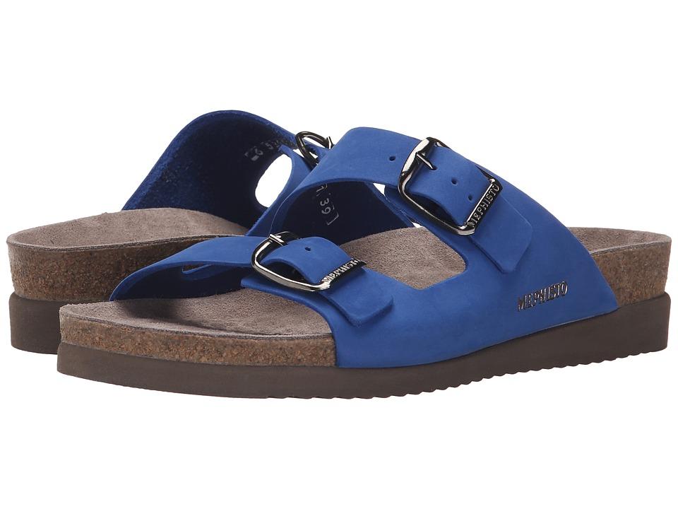 Mephisto Harmony Cobalt Blue Nubuck Womens Sandals