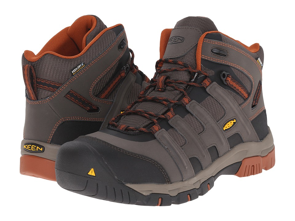 Keen Utility Omaha Mid Waterproof (Black Olive/Gingerbread) Men