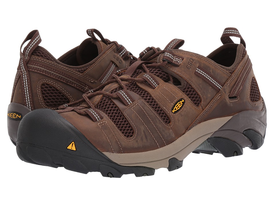Keen Utility Atlanta Cool ESD Soft Toe Cascade Brown/Forest Night Mens Industrial Shoes