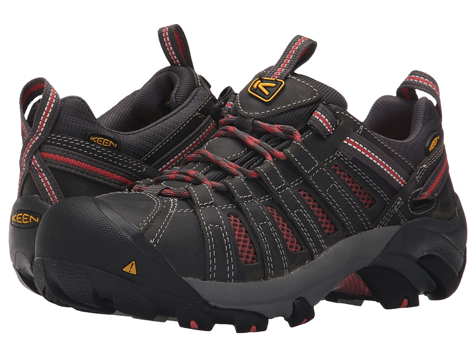 Keen Utility Flint Low (Magnet/Rose) Women's Work Lace-up Boots