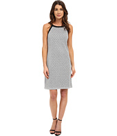 Nine West - Sleeveless Disco Diamond Printed Shift Dress
