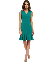 Nine West - Sleeveless Bi-Stretch Dress with A Flounce Skirt