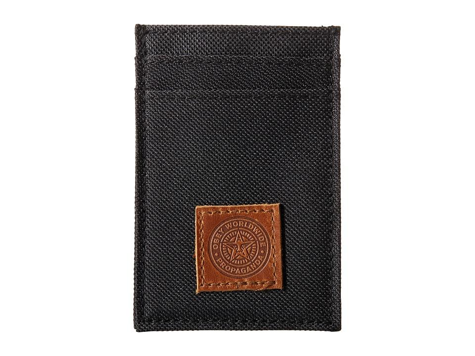 Obey Revolt Id Wallet Black Wallet Handbags