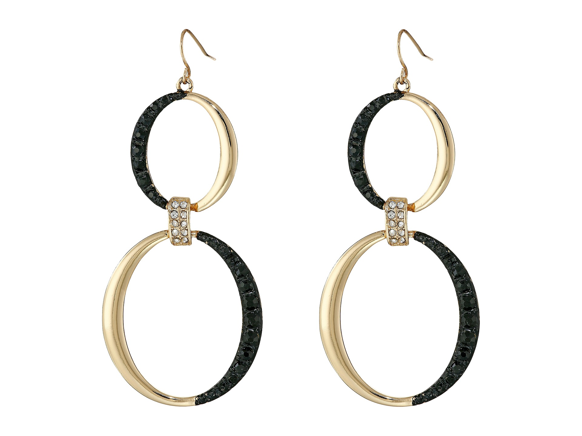 guess rings on wire earrings