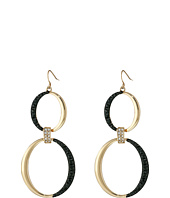 GUESS - Double Rings on Wire Earrings