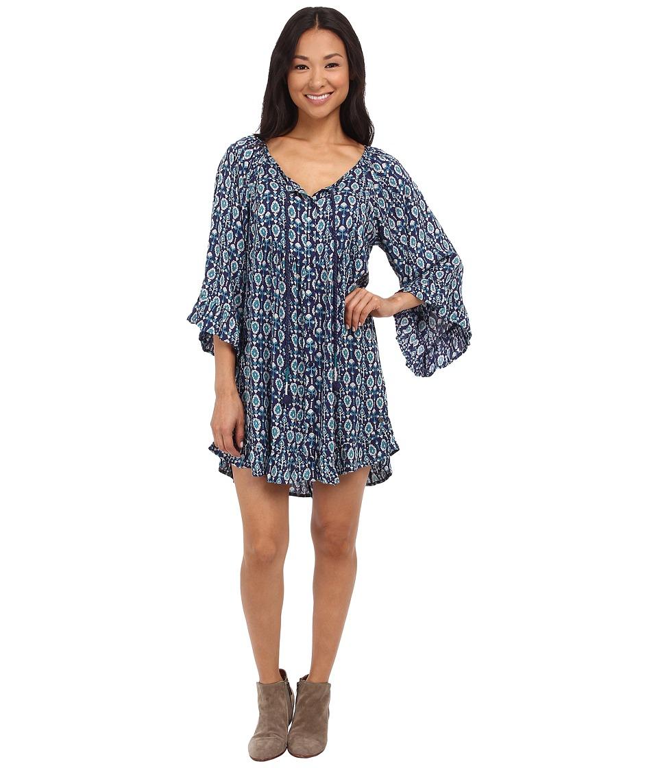 Roxy Blackbird Dress Patriot Blue Paisley Womens Dress